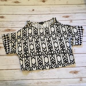 [Jealous Tomato] Aztec Crop Top